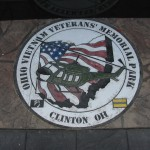 Along the walkway at the Ohio Vietnam Veterans' Memorial Park