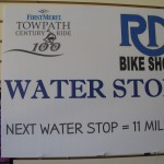 Water stop sign