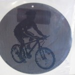Animated Cyclist Suncatcher