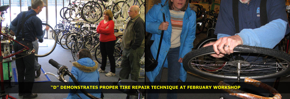 tire repair workshop with don and guests