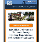 "rdbike.com test results in the Google ""mobile-friendly"" test"