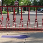 New bicycle racks in downtown Barberton
