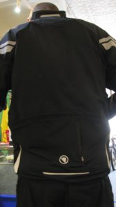 Don is showing the rooming rear pockets with a center waterproof zipped pocket